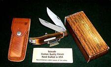 "Schrade 25OT Folding Knife 5-1/4"" Closed & Sheath W/Original Packaging,Paperwork"