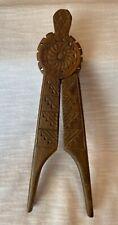 Wooden Design Handheld Nut Cracker. Vintage Used Condition