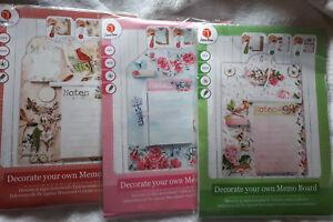 Memoboard DIY Memo Board im Romantik Stil selber basteln MDF Scrapbooking