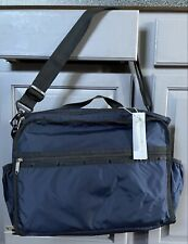 Nwt LeSportsac Rebecca Convertible Diaper Backpack Changing Pad Navy