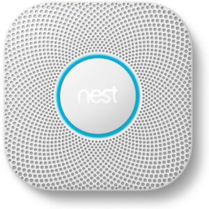 Google Nest Protect Battery Smoke/Carbon Monoxide Alarm 2nd Gen (S3000BWES)