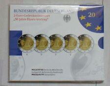 5 x 2 Euro Deutschland 2013 50 Jahre Elysee-Vertrag Spiegelglanz PP Blister OVP