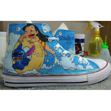 Custom Converse All Star Lilo and Stitch Anime Hand Painted Shoes Free Shipping