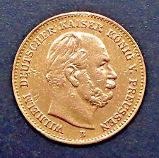 "1877-B German States PRUSSIA - 5 MARK GOLD COIN -""XF"" - KM #507"