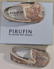 NEW WITH TAGS: PIRUFIN Baby Shoes made in Spain: Size 4 (EU 19) FREE SHIPPING