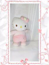 F - Doudou  Peluche Hello Kitty Grelot Fleurs Sanrio 23 cm