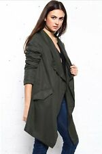 Anthropologie BB Dakota Gerrard Tencel Coat Jacket Vest cardigan Military Medium