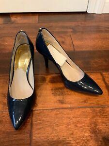 Michael Michael Kors Blue Patent Leather Pumps Heels, Size 7 (US), 4 (UK)