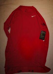 Männer, Nike Pro, Compression-Shirt, rot , Gr. L