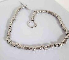 Bracciale argento 925 pepite da 0.2 mm stile Dodo rodiato anallergico donna