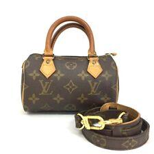 Louis Vuitton Monogram Mini Speedy Hand bag w/Shoulder /40327