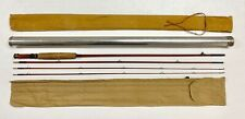 VTG Folsom #1525 3 Piece Bamboo Fly Fishing Rod W/Canvas Bags & Tube 8' 7.5""