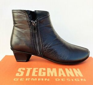 New Stegmann German design low heel zip ankle boots - Stegmann shoes Stag