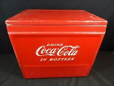 Coca Cola Cooler Metal Ice Chest 1950s Coke VINTAGE DRINK COKE 18X17X13