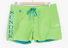 Sundek Shorts M647 Acid Green - Size US 32 (Costume Mare / Beachwear / Shorts)