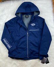 NHL Nashville Predators Soft Shell Hooded Jacket Reflective Women's 2XL Blue