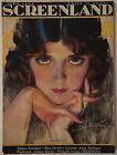Vintage April 1924 Screenland Magazine Rolf Armstrong Actress Alma Rubens Cover