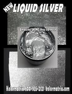 LIQUID SILVER METALLIC Premium Plastisol - Non Phthalate – Screenprint Ink QUART