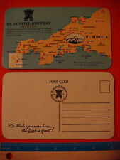Beer Coaster: ST. AUSTELL Brewery ~ Cornwall, ENGLAND Pubs, Free Houses & Hotels