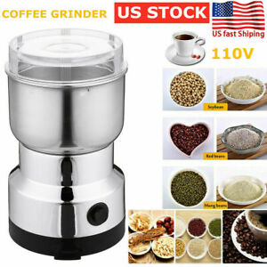 Electric Coffee Bean Grinder Nut Seed Herb Grind Spice Crusher Mill Blender USA