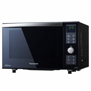 Panasonic 23L 1000W Combination Microwave Oven with Grill Flatbed Design - Black
