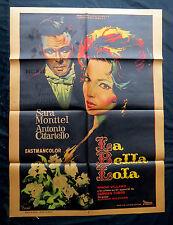 """SARA MONTIEL """"LA BELLA LOLA"""" ANTONIO CIFARIELLO MEXICAN MOVIE POSTER 1962"""