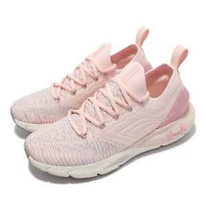 Under Armour HOVR Phantom 2 Inknt UA Pink White Women Running Shoes 3024155-603