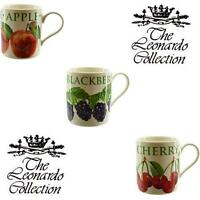 Fruit Orchard, Flower Garden Gift Boxed Mugs, Fine China, By Leonardo Collection
