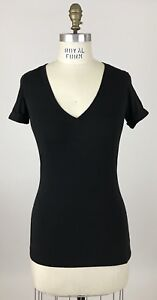 Lululemon Black V-Neck Shirt Pima Size 4