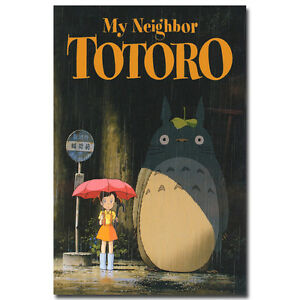 My Neighbor Totoro Cartoon Silk Poster 12x18 24x36 inch Hayao Miyazaki 005