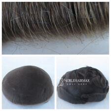 Mens Toupee System Real Human Hair Replacement French Lace Wig Toupee Hairpiece