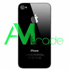 Back Cover Copribatteria Vetro posteriore Per iphone 4S 4GS NERO BLACK