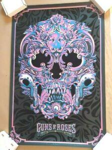 Guns N' Roses Anthony Petrie Art Print Purple Variant Flocked Poster #23/100
