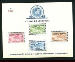 Venezuela 1951 Bl 3, Block 3 mit 730 - 733 tadellos postfrisch!! #c805