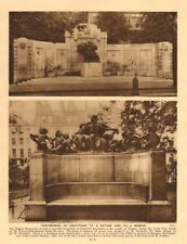 Belgian Monument Victoria Embankment.Margaret MacDonald Lincolns Inn Fields 1926