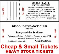 200 RAFFLE/ADMISSION-EVENT TICKETS~DRAWING Custom Printed Cheap&Small Heavyweigh