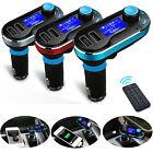 Wireless Bluetooth trasmettitore FM MP3 Lettore Kit Auto Caricabatterie