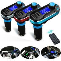 Bluetooth Inalámbrico Transmisor de FM MP3 Reproductor Kit Para El Coche