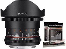 Samyang 8mm T3.8 Cine Fish-eye VDSLR II Version 2 UMC CS II APSC Lens for Canon