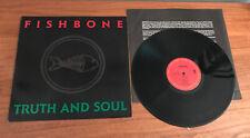 FISHBONE Truth & Soul LP NM Vinyl 1988 Ska Punk Reggae
