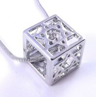 3 Dimensions Star Of David Magen Judaica Necklace Pendant Kabbalah Silver 3D