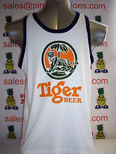 Tiger Beer Singlet Vest Top White size S **UK STOCK** New