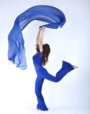New Belly Dance Chiffon Shawl Veil Costume Gold Trim 13 colors