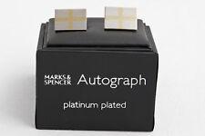 Autograph platinum plated cufflinks