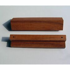 2er Paket Walnuss Möblegriffe Massivholz Griffe NEU Küche Holz Geölt 128mm