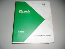 Workshop Manual Manual Ssangyong Korando 03/1997