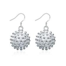 925 Silver Plt Fireworks Drop Dangle Hook Earrings Bang Explosion Hedgehog a