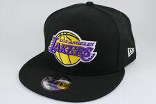 NEW ERA 9FIFTY BASIC SNAPBACK HAT CAP NBA LOS ANGELES LA LAKERS BLACK TEAM ADULT