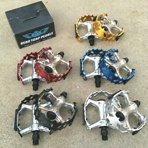 SE RACING BEAR TRAP PEDALS 9/16 FOR 3 PC CRANKS BMX BIKE PEDAL HARO ODYSSEY