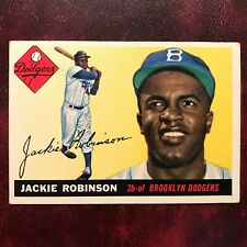 1955 Topps Set JACKIE ROBINSON partial diamond #50b BROOKLYN DODGERS - EX